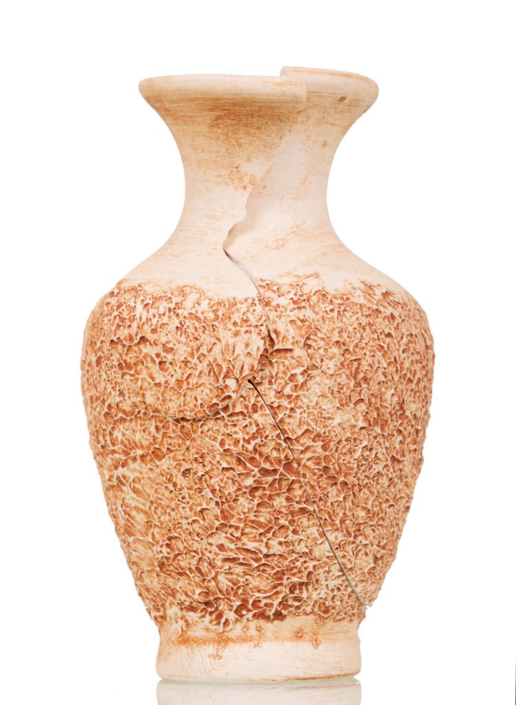 Cracked antique vase
