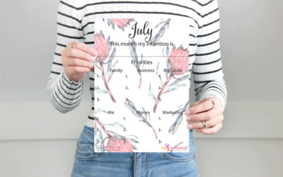 July intentions planner {Free Printable}